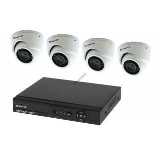 Установка ip видеонаблюдения на 4 камеры IP 1080P